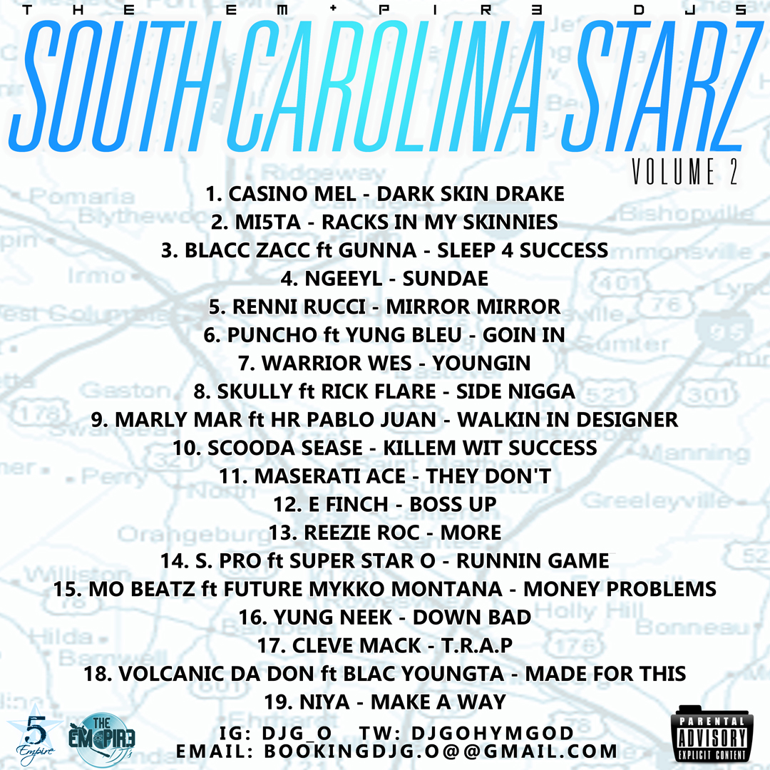 The Empir3 - South Carolina Starz Vol. 2 (Back)